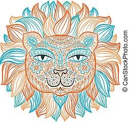 Vector illustration. Lion.