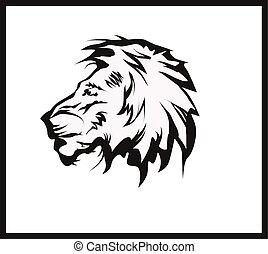 vector illustration lion head tattoo