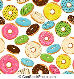 Vector illustration logo for glazed sweet donut - Abstract...