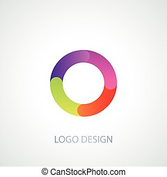 Vector illustration logo letter o