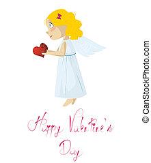 Vector illustration. Love angel.