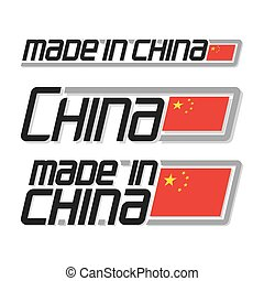 "Vector illustration ""made in China"""