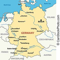 map of Germany - vector illustration -  map of Germany