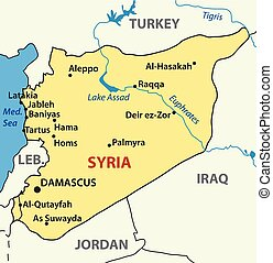 vector illustration - map of syria