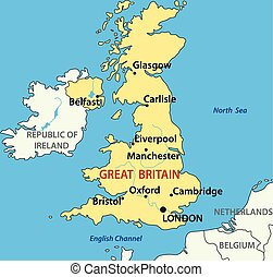 map of the United Kingdom - vector illustration - map of the...