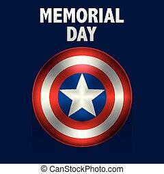 Vector illustration memorial day usa