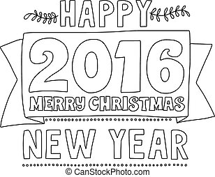 Vector illustration Merry Christmas