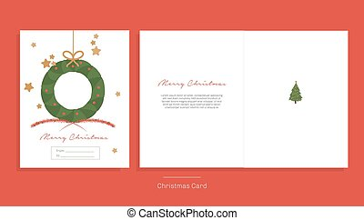 Vector Illustration. Merry Christmas greeting card.
