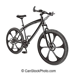 vector illustration moden bicycle isolated on white background