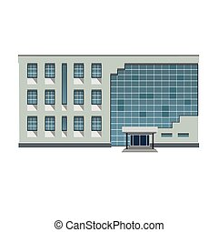 Vector illustration modern building