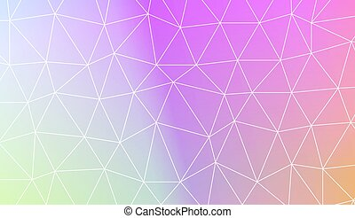 Vector Illustration - Modern pattern in polygonal pattern...