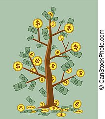 Vector illustration money tree