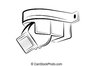 Vector illustration - Motion sensor on a white background.