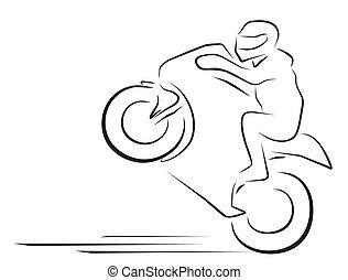 vector illustration  moto race