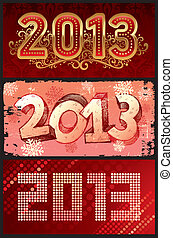 Vector illustration - New Year 2013