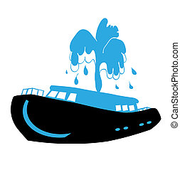 Vector illustration nice boat