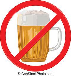vector illustration no alcohol