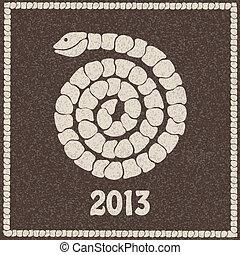 Vector illustration of 2013 snake