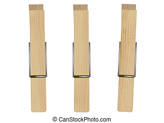 Vector illustration of 3 pegs. - Vector illustration of...