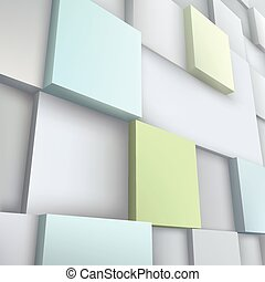 Vector illustration of 3d cubes. Abstract background