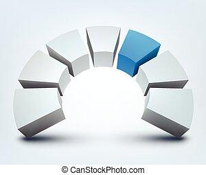 Vector illustration of 3d shape on white background