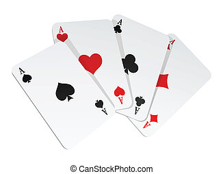 Vector illustration of 4 cards