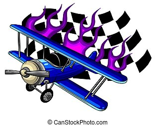 Vector illustration of a airplanes vector illustration