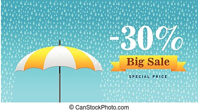 Vector illustration of a background for Happy Monsoon Sale.