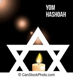 Vector illustration of a background for Yom Hashoah -remembrance Day