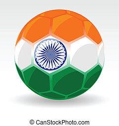 Vector illustration of a ball covered with Indian Flag on white background for Republic Day.