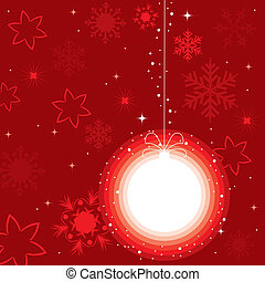 a ball for xmas tree - vector illustration of a ball for ...