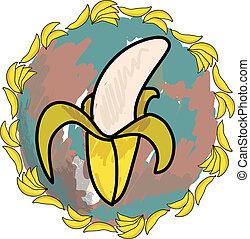 vector illustration of a banana