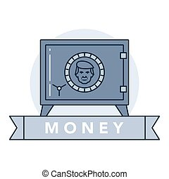 Money and financial institutions topic. - Vector ...