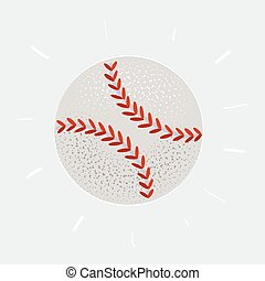 Vector illustration of a baseball ball on white background.