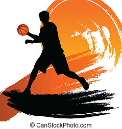 vector illustration of a basketball player