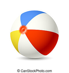Beach Ball - Vector illustration of a Beach Ball