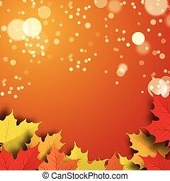 Vector illustration of a beautiful autumn background
