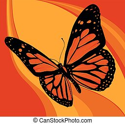vector illustration of a beautiful colorful butterfly