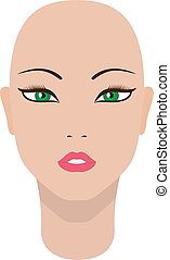 Vector illustration of a beautiful dummy girl head