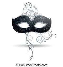 Vector Illustration of a beautiful Venetian Mask