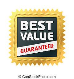 Best Value label - Vector illustration of a Best Value label