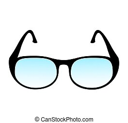 vector illustration of a black glasses isolated on white background