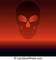 Vector illustration of a black skull