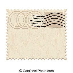 blank grunge post stamp