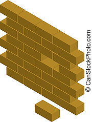 block wall - Vector illustration of a block wall with ...
