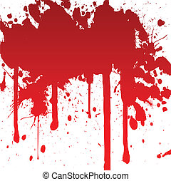 bloody splash - vector illustration of a bloody splash