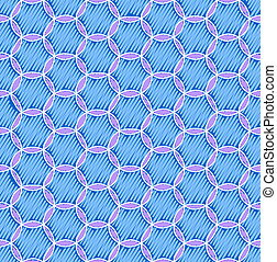 blue seamless pattern with circles
