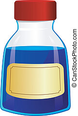 Vector illustration of a bottle of ink
