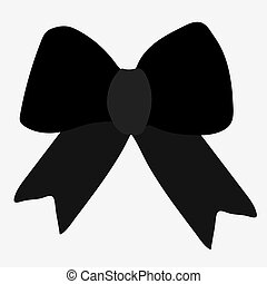 Vector illustration of a bow.