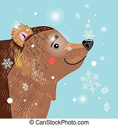 brown bear among